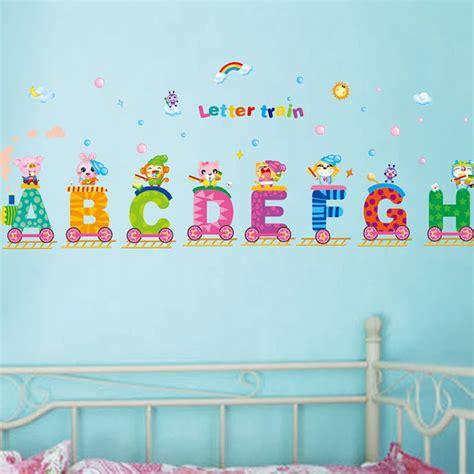 Wall Paper Sticker 146 alphabets rainbow wall decal home sticker paper picture murals nursery