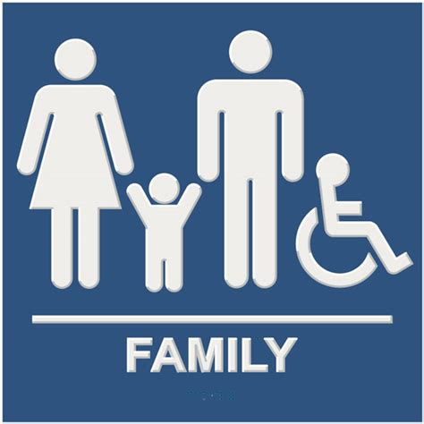 family bathroom sign ada compliant restroom signs naag tag inc