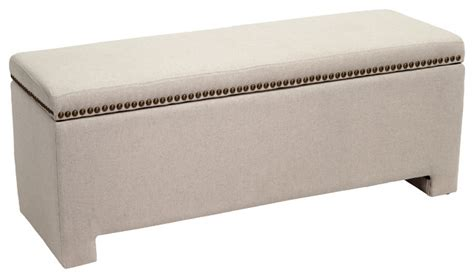 fabric ottoman storage bench hudson fabric storage ottoman bench ivory contemporary