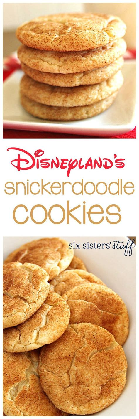 8 Awesome Cookie Recipes by Disneyland S Snickerdoodle Cookies Recipe Disney