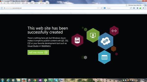 Getting Started With Azure And Visual Studio 2013 Prashant Brall S Blog Visual Studio Dashboard Template