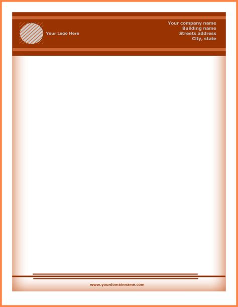 Office Letterhead Template Free by Microsoft Word Letterhead Template Free