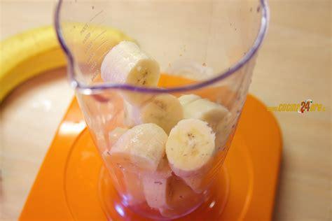 gelato alla banana fatto in casa con punch o senza per