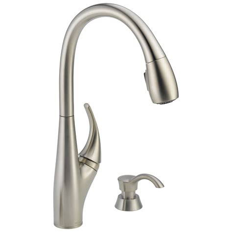 delta pull kitchen faucet delta 19912 sssd dst deluca single handle pull