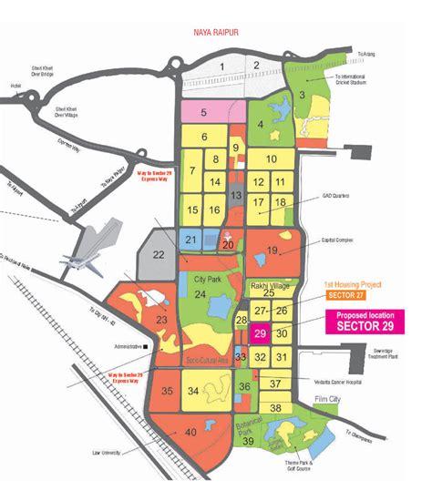 Layout Plan Of Naya Raipur | cghb naya raipur sector 29 project location map master