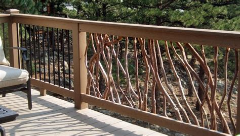 tree branch banister deck railing ideas for your home find one for you