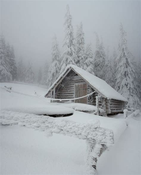 Cabin In Snow by Log Cabin In Snow Princess Of Winterland