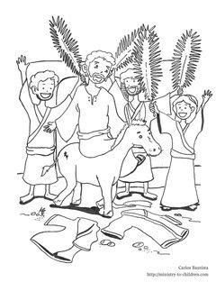 coloring page jesus rides into jerusalem this free coloring sheet shows jesus into jerusalem