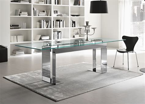 modern  dining tables tonelli miles glass