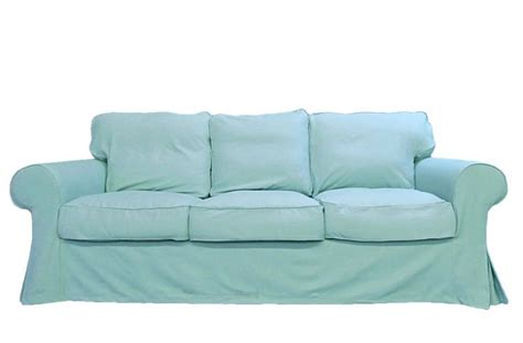 custom couch slipcover ikea ektorp sofa custom slipcover in cloud twill