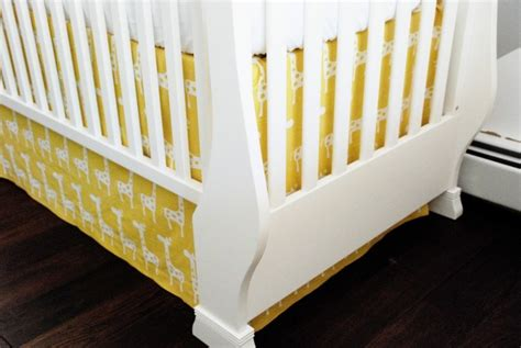 Crib Bed Skirt Diy Diy Crib Skirt Baby Giacomo S Yellow And Gray Chevron