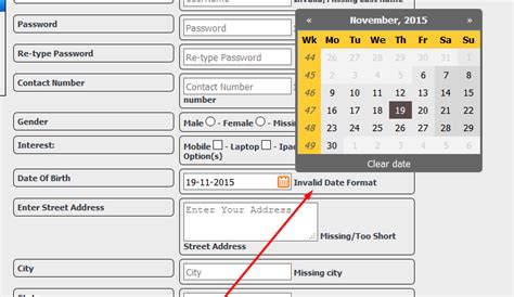 date format php validate php validation of invalid date format in my user form