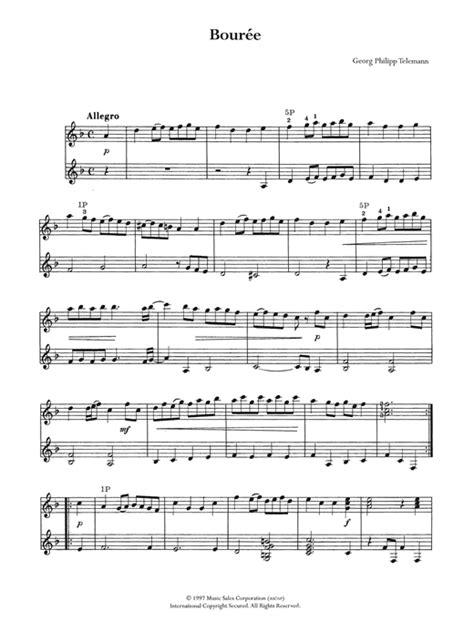 Telenan Transparan bouree sheet by georg philipp telemann guitar 122491