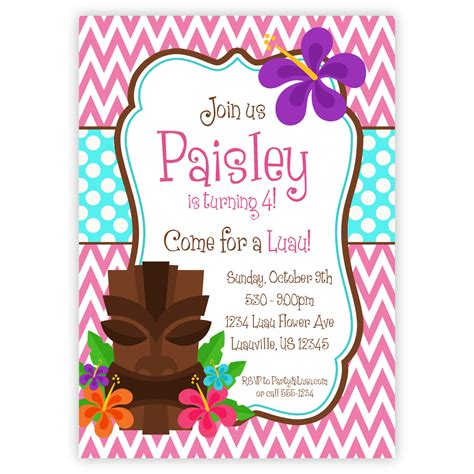 printable birthday invitations luau printable luau birthday invitations www pixshark com