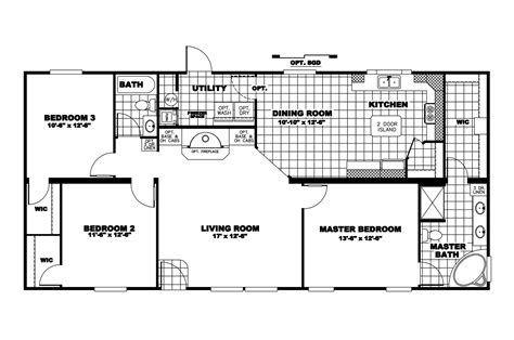 oakwood mobile home floor plans manufactured home floor plan 2010 clayton independence 28x56 38ind28563ah10