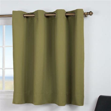 Room Darkening Liners For Curtains Ultimate Blackout Grommet Top Shortie Panel Ricardo