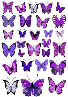 edible tattoo paper 56 x purple butterflies mixed sizes wedding birthday cake
