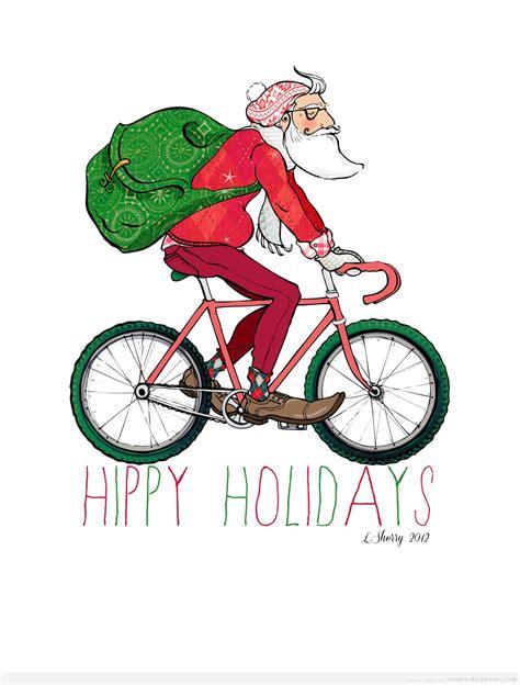 imagenes de santa claus en bicicleta c 243 mo reparte el santa claus hipster los regalos cu 225 nto