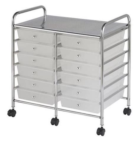 Rolling Storage Cart With Bins Storage Containers Cart Clear Bins Plastic Rolling
