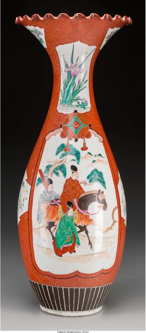 Japanese Vase Marks by A Japanese Kutani Porcelain Vase Marks Seven Character Mar