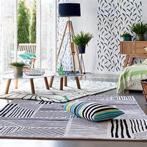 tapis de salon graphics noir et blanc par esprit home