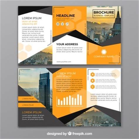 tri fold brochure vector   free download