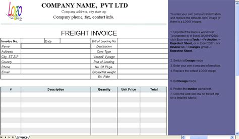 trucking invoice template free invitation template
