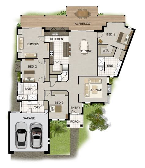 3 bed corner block house floor plan 3 bed corner block