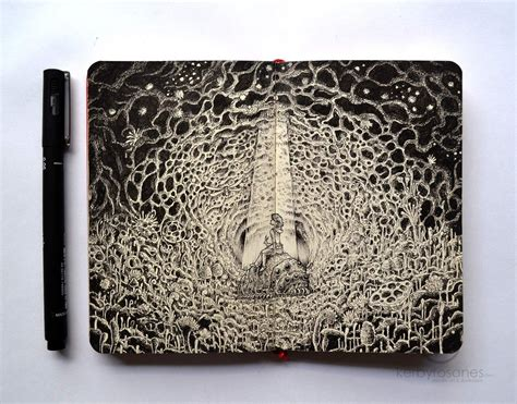sketch book cool explosive moleskine doodles by kerby rosanes colossal