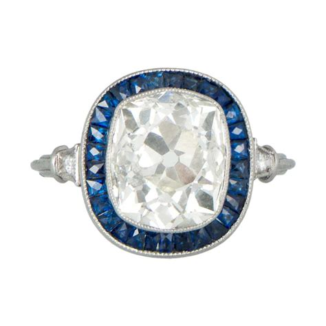 sapphire and engagement rings cushion cut and sapphire engagement ring