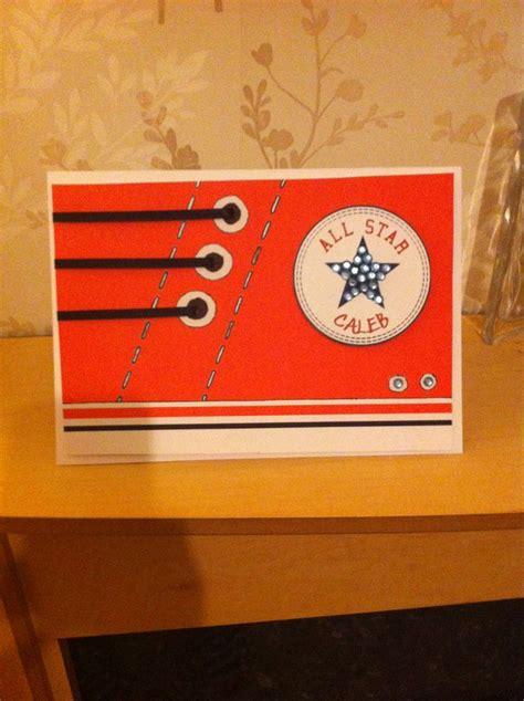 Handmade Birthday Cards For Boys - boy birthday card converse handmade cards boys