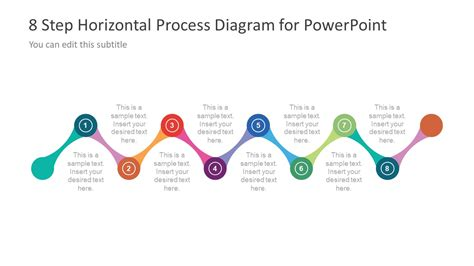 contoh layout by process 8 step horizontal process diagram design for powerpoint