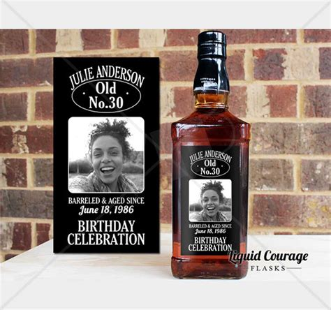 Personalized Liquor Bottle Labels Custom Labels Jack Daniels Tequilla Whisky Vodka Fireball Liquor Bottle Labels Template