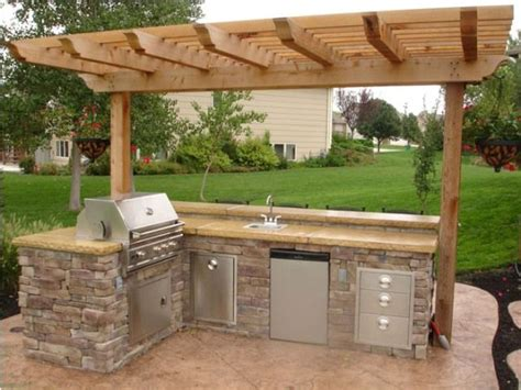outdoor bbq kitchen ideas 17 best ideas about simple outdoor kitchen on