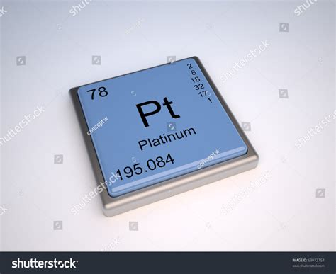 pt of elements platinum chemical element of the periodic with