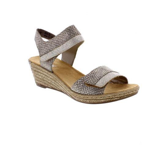Sandal Wedges Jepit Spon 64 rieker 62470 64 sling back sandals rieker from rieker uk