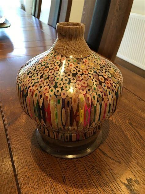 large pencil vase woodturning project wood turning