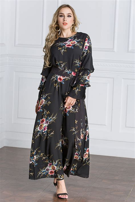 Set Abaya Bunga Manja Oryginal Brand 1 new sleeve dresses muslim dubai maxi dress islamic cocktail ebay