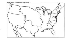 blank map of us manifest destiny