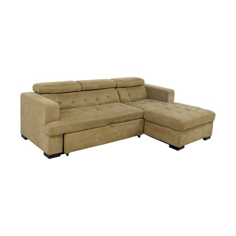 chaise sectional sleeper sofa 59 off bob s furniture bob s furniture gold chaise