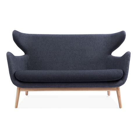 cult sofa grey fabric upholstered duchess 2 seater sofa living