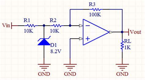 zener diode lifier op how do i use a clipping zener at the input of an op inverting lifier