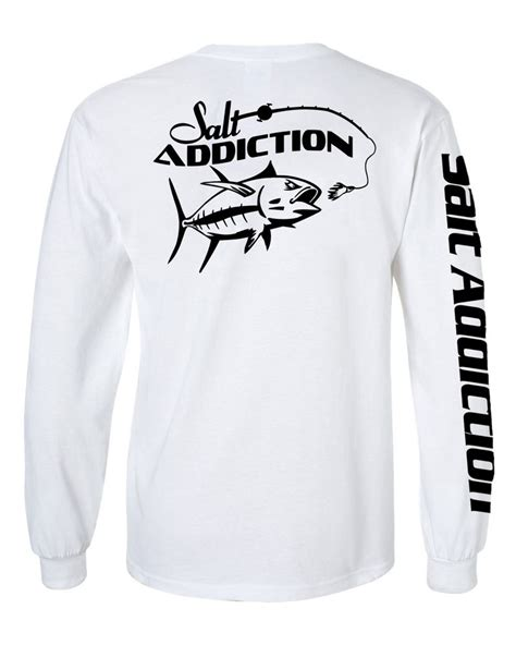 Tshirt Kaos Longsleeve Salt Addiction salt addiction sleeve saltwater fishing t shirt fish