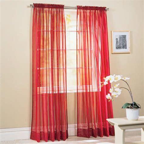 voile drape 1 piece home sheer voile door window curtain panel drape