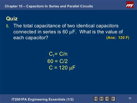 what is the total capacitance of capacitors connected in series if 60 capacitors are connected in series and then in parallel what is the ratio of cs cp 28
