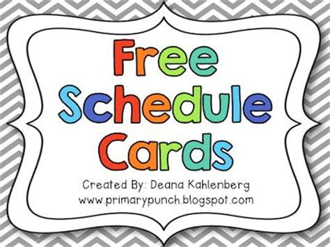 free printable daily schedule cards for preschool free schedule cards firsties pinterest