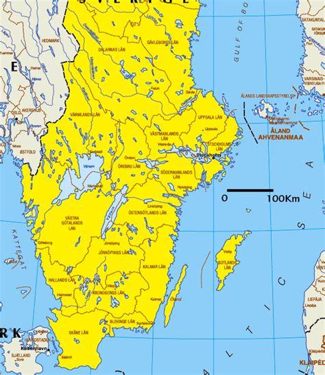 Landkarten Drucken Online by Landkarte Schweden 220 Bersichtskarte S 252 Den Weltkarte