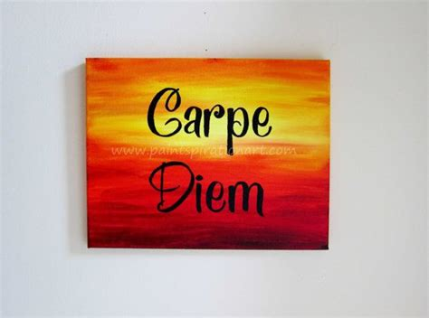 Paintings For Home Decor Carpe Diem Original Canvas Painting 11x14 Inspirational
