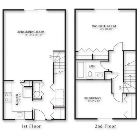 two bedroom townhouse plans townhouse floor plans 2 bedroom buybrinkhomes com