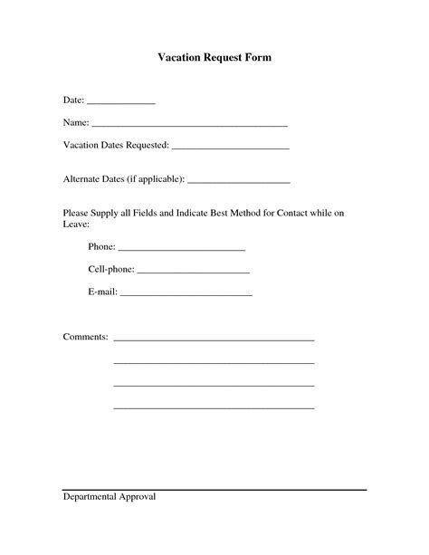 search results for employee vacation request form